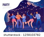 group of young persons with... | Shutterstock .eps vector #1258103782