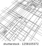abstract architectural drawings   Shutterstock .eps vector #1258105372