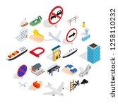 preparation icons set.... | Shutterstock .eps vector #1258110232