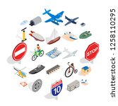private flying machine icons... | Shutterstock .eps vector #1258110295