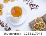 orange herbal flavored...   Shutterstock . vector #1258117045