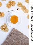 orange herbal flavored...   Shutterstock . vector #1258117048