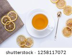 orange herbal flavored...   Shutterstock . vector #1258117072