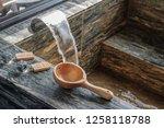 luxury hot spring tub in hotel...   Shutterstock . vector #1258118788