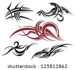 tattoo elements | Shutterstock .eps vector #125812862