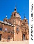 facade of landmark church of... | Shutterstock . vector #1258143622