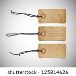 a set of vector old cardboard... | Shutterstock .eps vector #125814626
