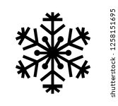 snowflake icon. beautiful six... | Shutterstock . vector #1258151695