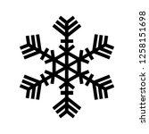snowflake icon. beautiful six... | Shutterstock . vector #1258151698