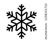snowflake icon. beautiful six... | Shutterstock . vector #1258151722