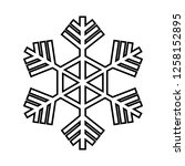 snowflake line icon. beautiful... | Shutterstock . vector #1258152895