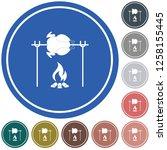 grilled chicken icon. vector... | Shutterstock .eps vector #1258155445