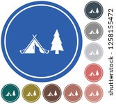 stylized icon of tourist tent.... | Shutterstock .eps vector #1258155472