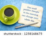 one small positive thought in... | Shutterstock . vector #1258168675