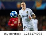santi mina of valencia during... | Shutterstock . vector #1258174078
