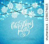 merry christmas party poster... | Shutterstock . vector #1258174615
