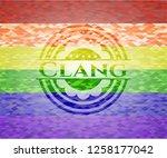 clang emblem on mosaic... | Shutterstock .eps vector #1258177042