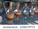vintage copper and brass metal... | Shutterstock . vector #1258179772