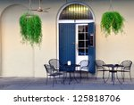 a quaint sidewalk cafe in the... | Shutterstock . vector #125818706