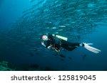 diver underwater | Shutterstock . vector #125819045