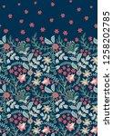 floral vintage seamless pattern....   Shutterstock .eps vector #1258202785
