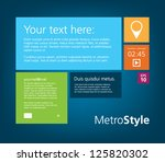 metro style interface theme for ...