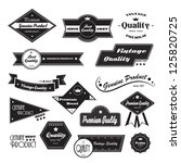 vintage design elements. labels ... | Shutterstock .eps vector #125820725