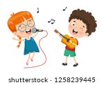 vector illustration of children ... | Shutterstock .eps vector #1258239445
