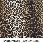 seamless leopard print design... | Shutterstock .eps vector #1258243888