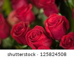 Stock photo red roses close up background 125824508