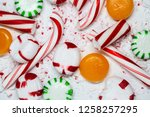 candy cane  spearmint ... | Shutterstock . vector #1258257295
