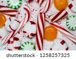 candy cane  spearmint ... | Shutterstock . vector #1258257325