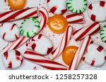 candy cane  spearmint ... | Shutterstock . vector #1258257328