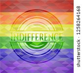 indifference emblem on mosaic... | Shutterstock .eps vector #1258264168