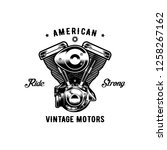 american vintage motor ride... | Shutterstock . vector #1258267162