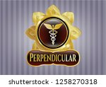 gold shiny emblem with... | Shutterstock .eps vector #1258270318