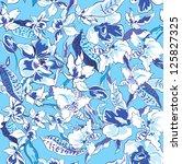 beautiful flower seamless...   Shutterstock .eps vector #125827325