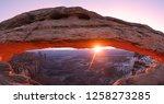 Sunrise at Mesa Arch of Canyonlands National Park, Utah USA.