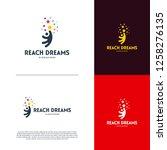 reaching star logo    online...   Shutterstock .eps vector #1258276135