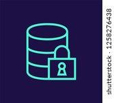 data security vector icon   Shutterstock .eps vector #1258276438