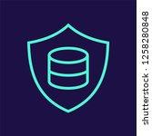 data protection vector icon   Shutterstock .eps vector #1258280848