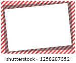 red stripes on the perimeter of ... | Shutterstock . vector #1258287352