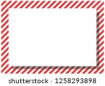 red stripes on the perimeter of ... | Shutterstock . vector #1258293898