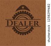 dealer wood icon or emblem | Shutterstock .eps vector #1258299682
