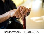 old man sitting with his hands... | Shutterstock . vector #125830172