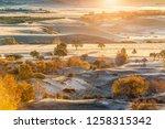 autumn grazing scenery on... | Shutterstock . vector #1258315342