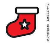 christmas sock icon. sock...   Shutterstock .eps vector #1258327942
