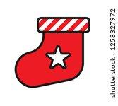christmas sock icon. sock...   Shutterstock .eps vector #1258327972