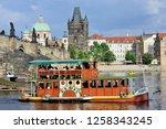 prague  czech republic   may 4  ...   Shutterstock . vector #1258343245
