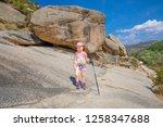 five years old girl ... | Shutterstock . vector #1258347688